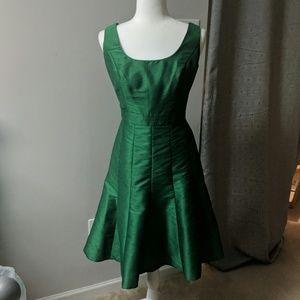 Alfred Sung Green Bridesmaid Dress